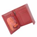 Гаманець жіночий зі шкіри червоний AKA 445/301К