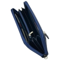 Кошелек для денег кожаный синий AKA 430/401-1К