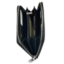 Кошелек для девушек кожаный черный KARYA 1072/109К