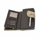 Кошелек для карточек кожаный бежевый KARYA 1119/229К