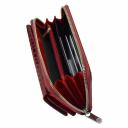 Кошелек из натуральной кожи бордовый KARYA 1140/315К