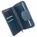 Кошелек кожаный синий AKA 428/401К