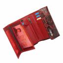 Кошелек кожаный красный с черным AKA 445/159К