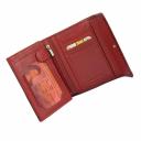 Кошелек кожаный красный варан лаковый AKA 445/317К