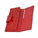 Кошелек кожаный красный крокодил AKA 485/305К