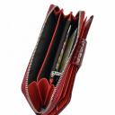 Кошелек кожаный бордовый KARYA 1119/315К