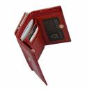 Кошелек маленький кожаный красный KARYA 1062/305К