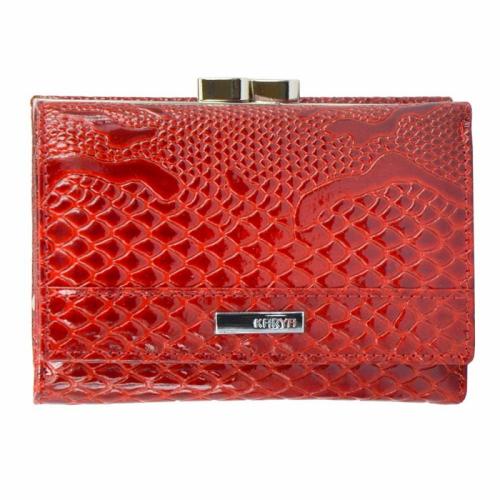 Кошелек маленький кожаный красный KARYA 1062/309К