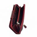 Кошелек на молнии кожаный бордовый AKA 428/315-2К