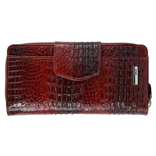 Кошелек женский кожаный крокодил AKA 428/305-105К