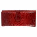 Кошелек женский кожаный красный питон KARYA 1133/309К