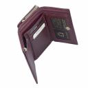 Кошелек женский маленький кожаный бордовый KARYA 1062/311К