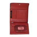 Кошелек портмоне женский кожаный красный AKA 445/305-2К