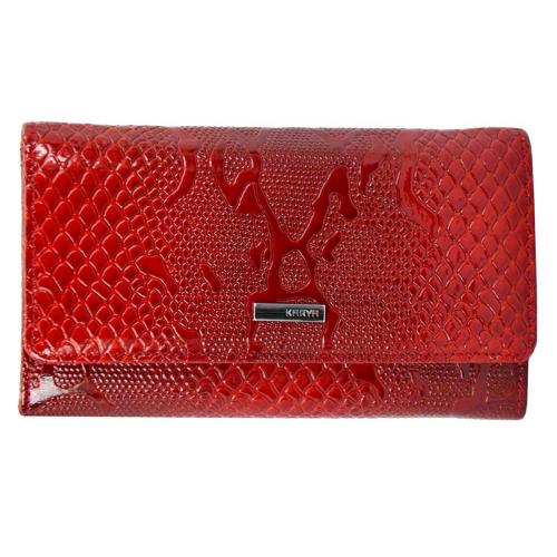 Кожаное женское портмоне красное KARYA 1088/309К