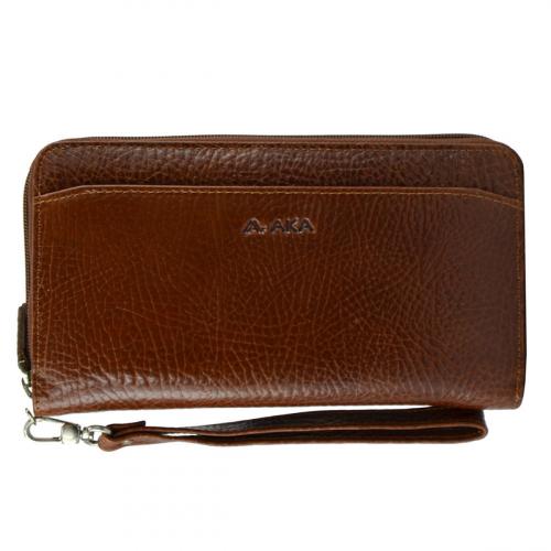 Кожаный кошелек рыжий AKA 430/211К