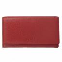 Кожаный кошелек красный AKA 470/301К