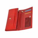 Кожаный кошелек красный AKA 470/309К