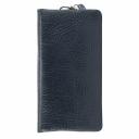 Кожаный кошелек синий AKA 491/401-1К
