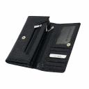 Кожаный кошелек черный KARYA 1060/109К