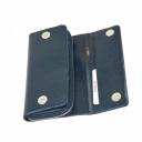 Кожаный кошелек синий KARYA 1131/401К