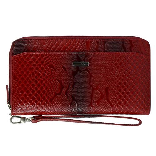 Кожаный кошелек женский красный AKA 430/309К