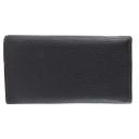 Кожаный кошелек женский черный AKA 470/101К