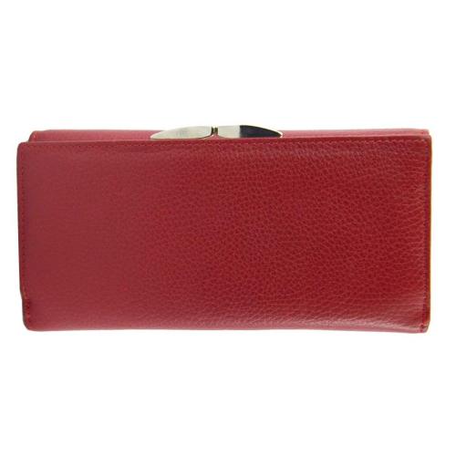 Кожаный кошелек женский красный AKA 475/301К
