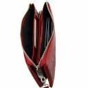 Кожаный кошелек женский красный KARYA 1075/309К