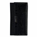 Кожаный кошелек черный с красным KARYA 1018/109-301К