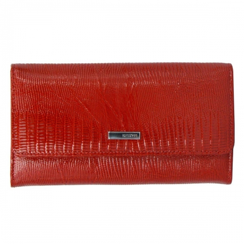Красивый кожаный кошелек красный KARYA 1061/307К