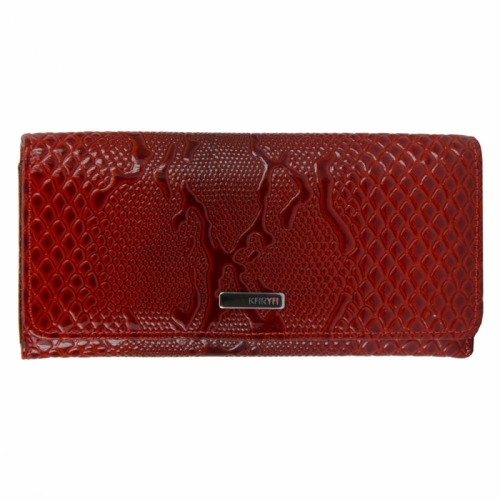 Красный кожаный кошелек лаковый KARYA 1064/309К
