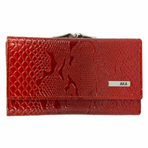 Маленький кошелек из натуральной кожи красный AKA 423/309К