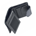 Маленький кошелек кожаный серый AKA 458/129К