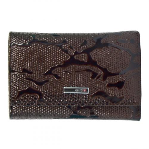Маленький кожаный кошелек коричневый KARYA 1063/209К
