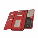 Шкіряний гаманець жіночий червоний KARYA 1140/301К