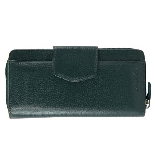 Зеленый кошелек на молнии AKA 428/501К