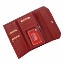 Женский кошелек портмоне кожаный красный AKA 490/301К