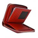 Женское портмоне на молнии красное KARYA 1147/309К