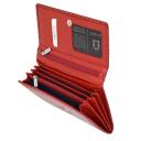 Жіночий шкіряний гаманець червоний KARYA 1088/300К