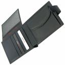 Чоловіче портмоне зі шкіри чорне текстурне KARYA 0418/104К