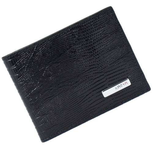 Кошелек мужской кожаный черный варан KARYA 0903/106К