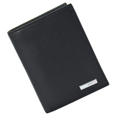 Кошелек мужской кожаный черный KARYA 0932/101К