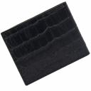 Кошелек мужской с зажимом кожаный KARYA черный под крокодила 0903/104К