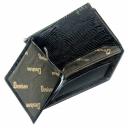 Кошелек с зажимом для купюр черный под кожу варана DESISAN 12/107К
