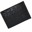 Кошелек зажим для денег кожаный черный под крокодила KARYA 0902/104К