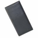 Кошелёк портмоне кожаный черный большой AKA 806/101К