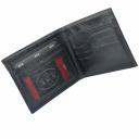 Кожаное мужское портмоне черное гладкое AKA 530/102К