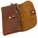 Кожаное портмоне терракотовое с ручкой AKA 491/211-1К