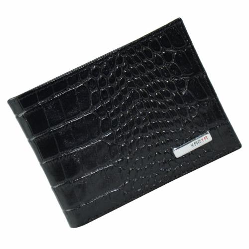 Кожаное портмоне черное KARYA 0420/104К