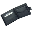 Кожаный кошелек мужской синий с ручкой KARYA 0418/101К